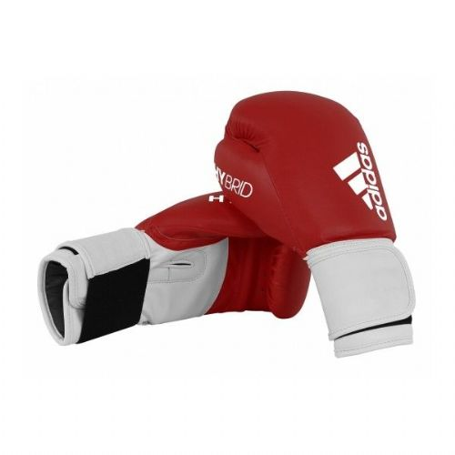 Adidas 100 Hybrid Boxing Gloves - Red